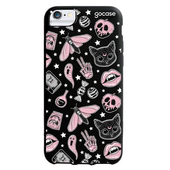 Black Case - Halloween Stickers Phone Case
