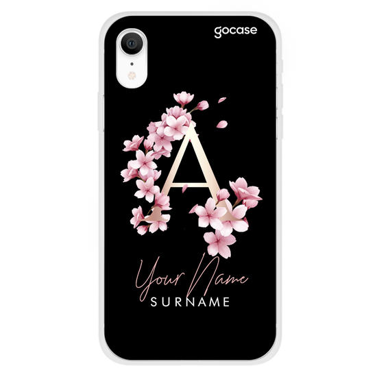 Cherry Initials Classic Black Phone Case