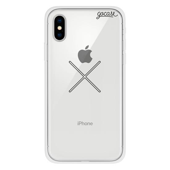 Capinha para celular Iniciais Cruzadas