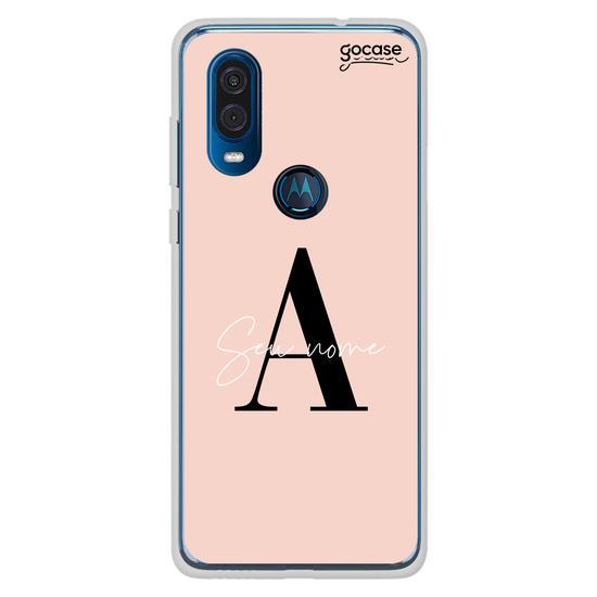 Capinha para celular Iniciais Fancy Rosê