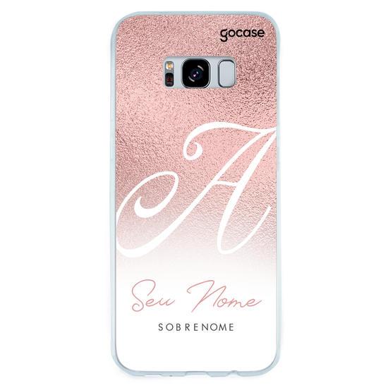 Capinha para celular Inicial Fancy Rosé