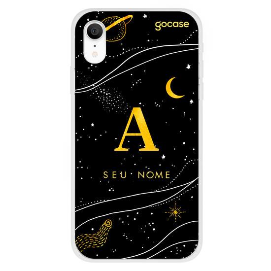 Capinha para celular Inicial Universo Dourado