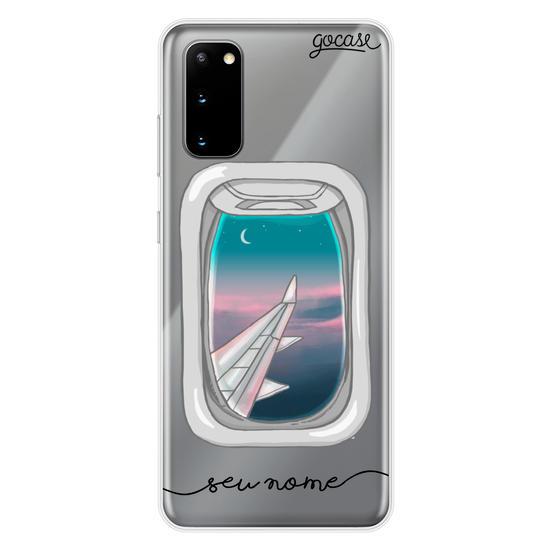 Capinha para celular Janela de Avião (Tarde)