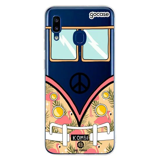 Capinha para celular Kombi Flamingos
