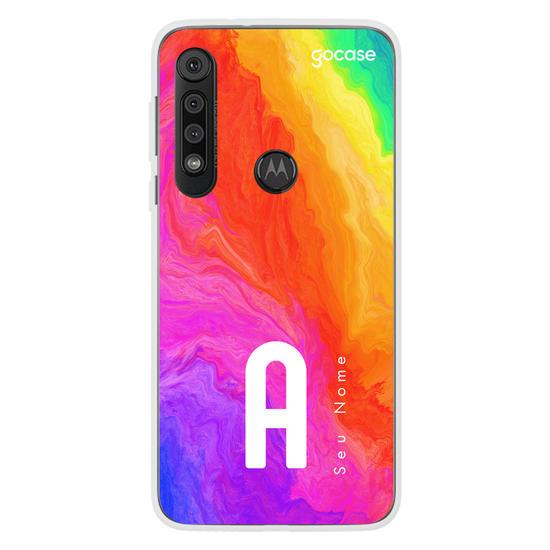 Capinha para celular Inicial Arco-Íris