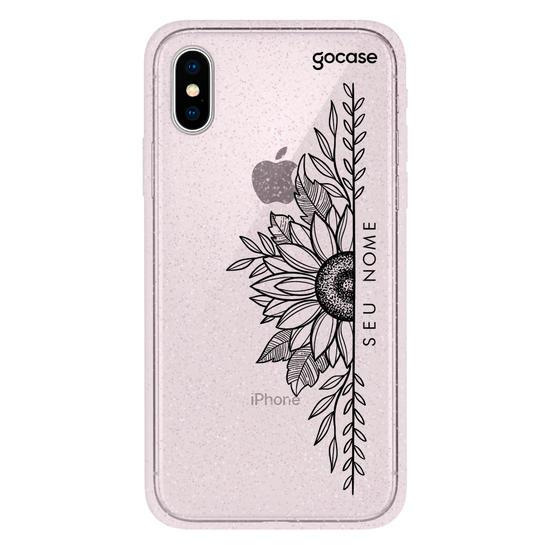 Capinha para celular Linhas e Flores