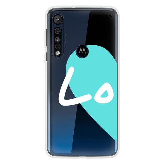Capinha para celular Love - Always together - Azul (Esquerda)