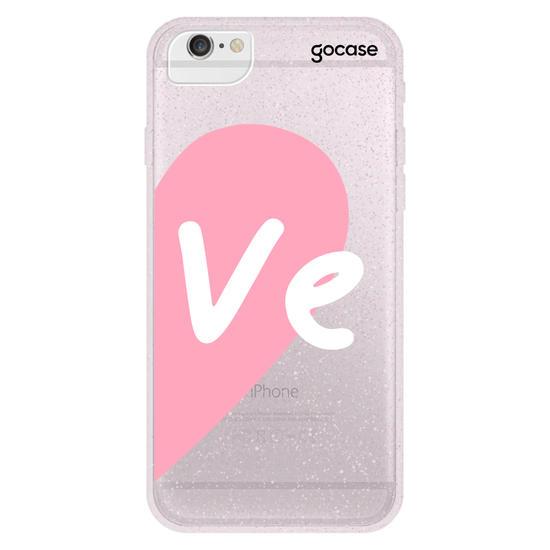 Capinha para celular Love - Always together - Rosa (Direita)
