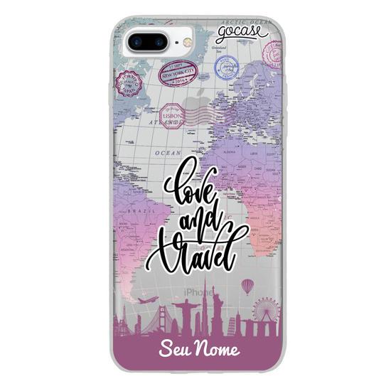 Capinha para celular Love and Travel Clean Customizada