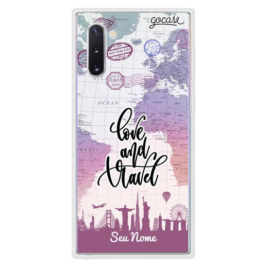 Capinha para celular Love and Travel Customizada