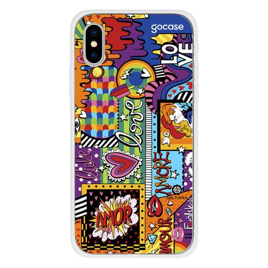 Capinha para celular Love Pop Art