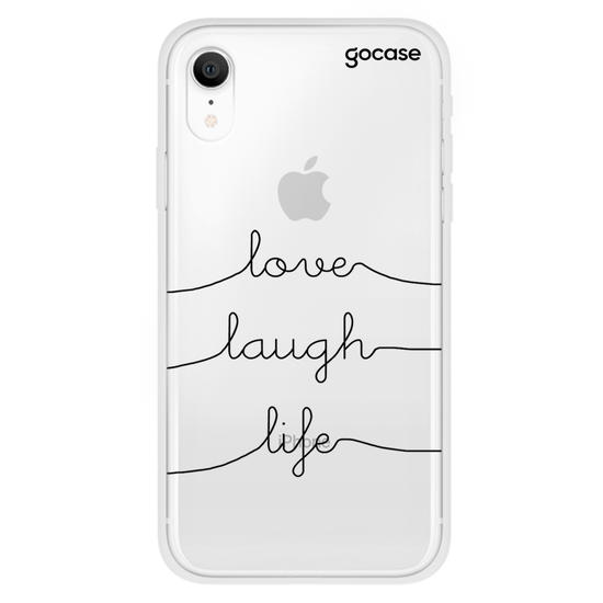 Capinha para celular Love Laugh Life