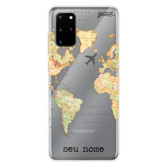 Capinha para celular Mapa Mundi Clean Customizável