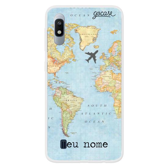 Capinha para celular Mapa Mundi Customizável