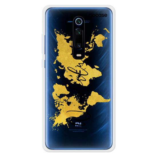 Capinha para celular Mapa Mundi Gold Clean Wanderlust
