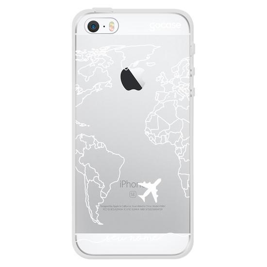 Capinha para celular Mapa Mundi Lines Manuscrita (White)