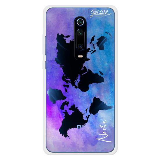 Capinha para celular Mapa Mundi Purple