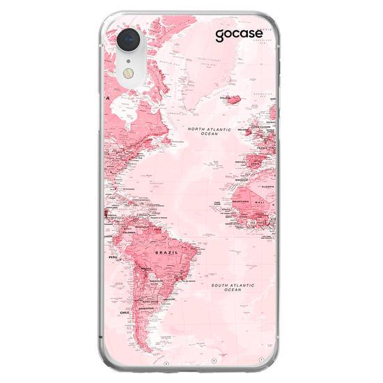 World Map Pink Phone Case