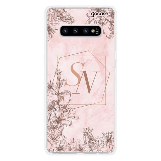 Capinha para celular Marble Rosé