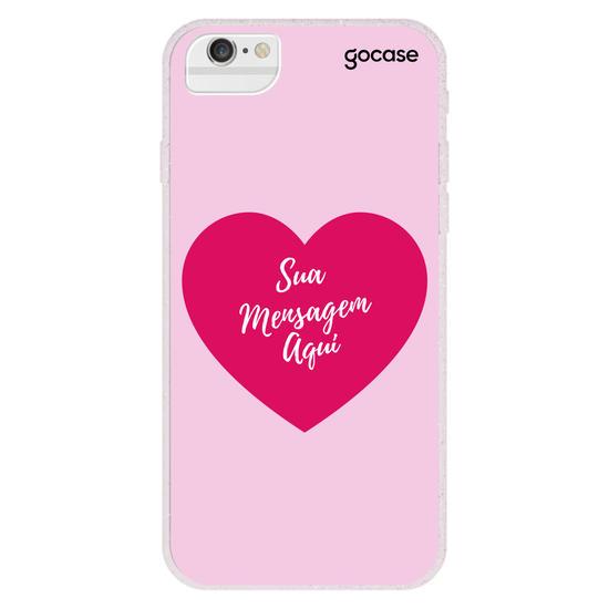 Capinha para celular Mensagem de Coração