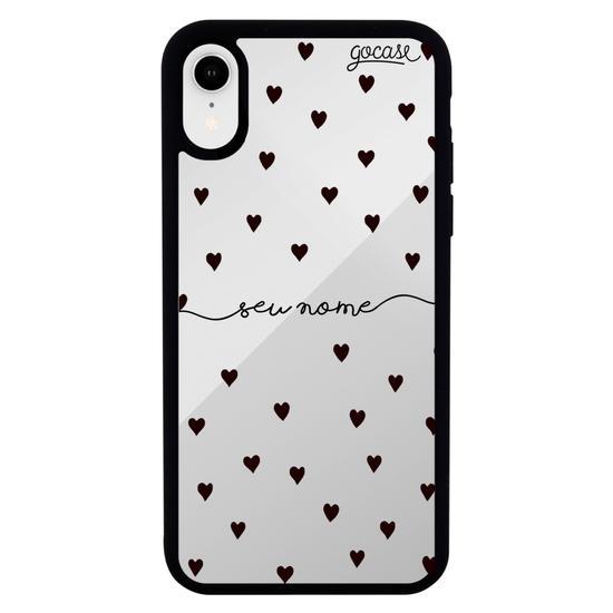 Capinha para celular Mirror - Black Hearts Manuscrita