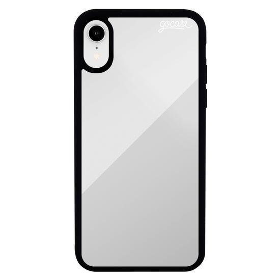 Capinha para celular Mirror - Clear Logo White