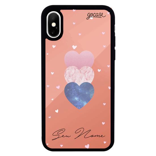 Capinha para celular Mirror - Fancy Hearts Clean Customizável