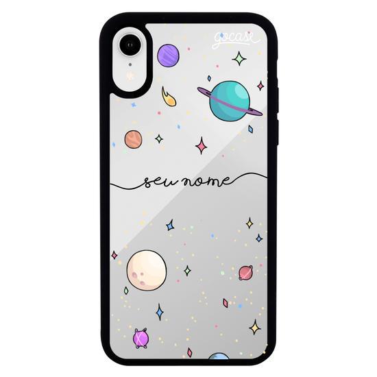 Capinha para celular Mirror -  Planetinhas Clean Manuscrita