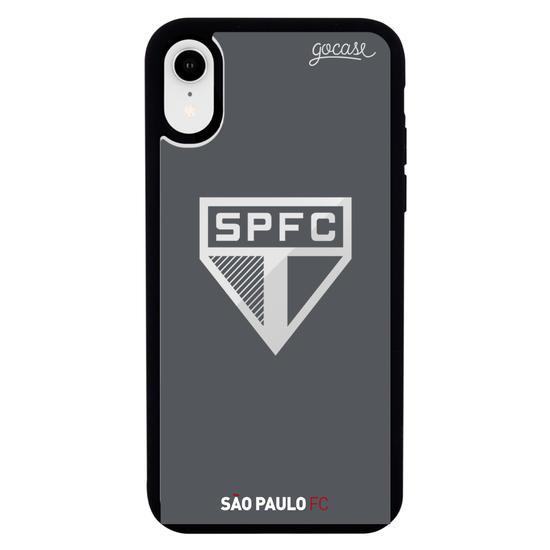 Capinha para celular Mirror - São Paulo - Escudo Espelhado Cinza