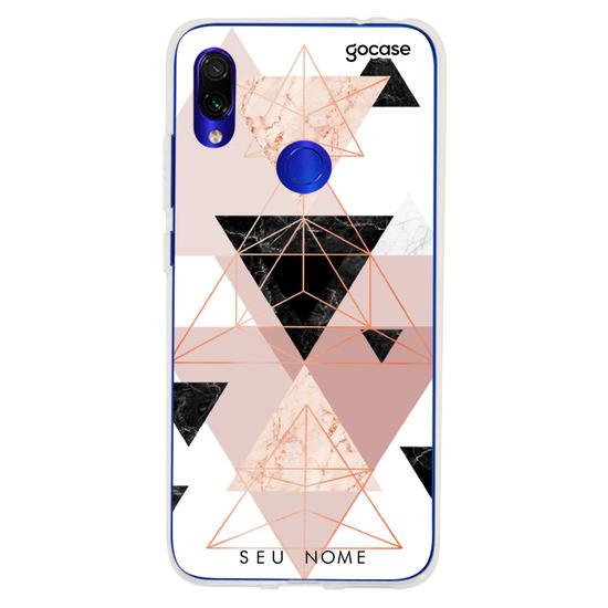 Capinha para celular Mosaico Tricolor Personalizável