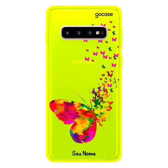 Capinha para celular Neon -  Borboletas Flutuantes