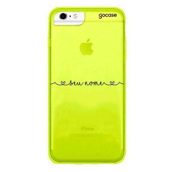 Capinha para celular Neon -  Corações com Nome