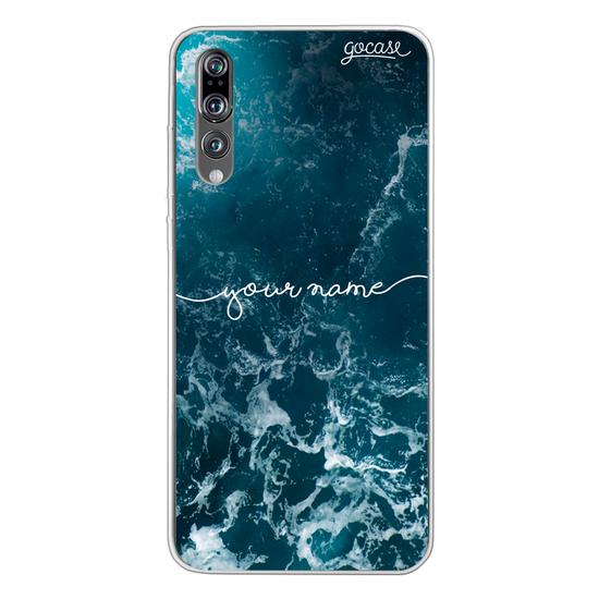 Ocean Waves Handwritten Phone Case