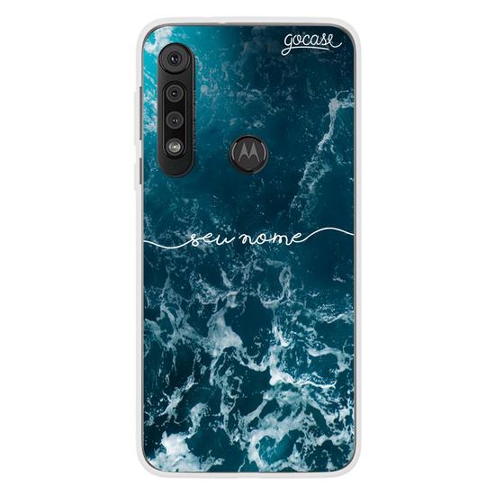Capinha para celular Ondas do Oceano Manuscrita