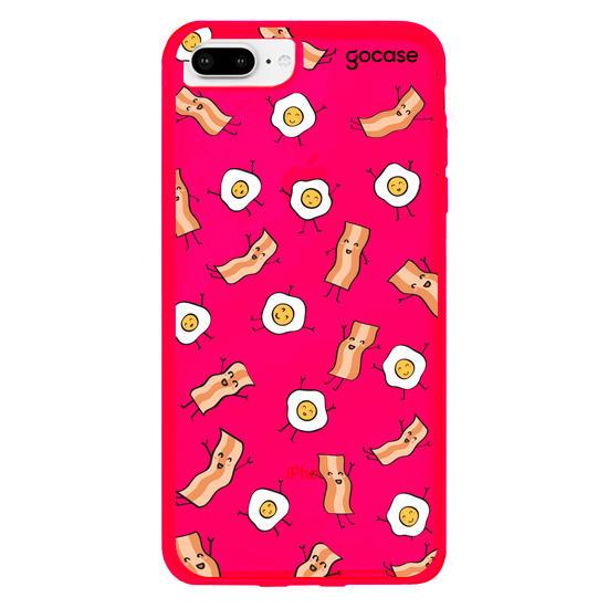 Capinha para celular Ovos com Bacon