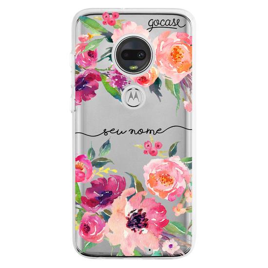 Capinha para celular Aquarela em Flor