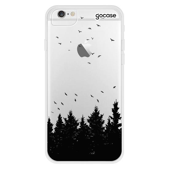 Capinha para celular Pinheiros e Pássaros