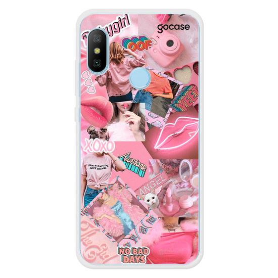 Capinha para celular Pink Collage