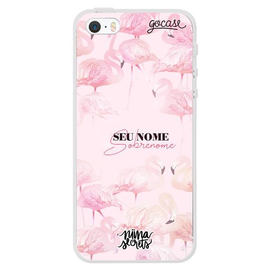 Capinha para celular Pink Flamingos customizável by Niina Secrets