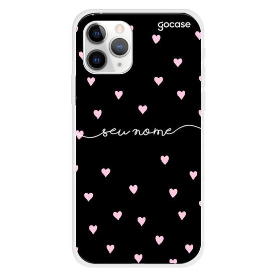 Capinha para celular Pink Hearts Manuscrita