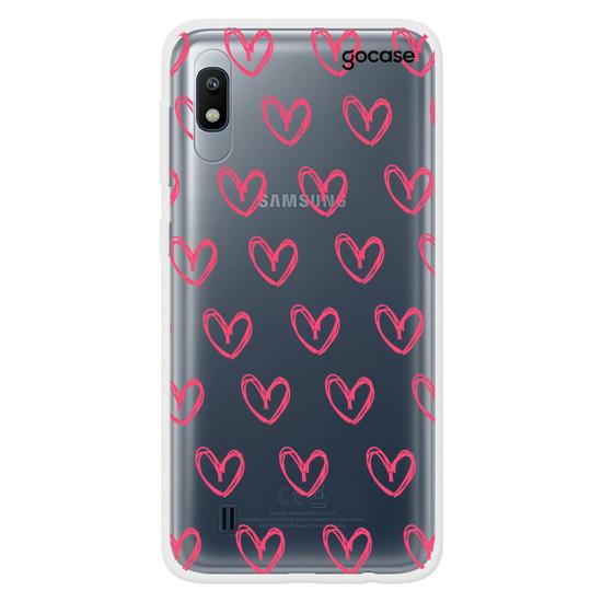 Capinha para celular Corações Rosados