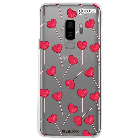 Capinha para celular Pirulito Coração
