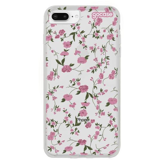 Capinha para celular Primavera Rosa Clean