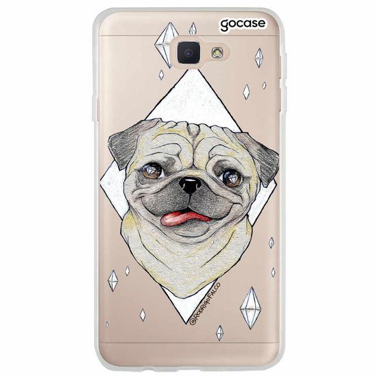 Capinha para celular Pug Diamonds