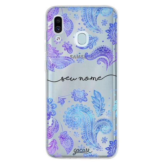 Capinha para celular Purple Manuscrita