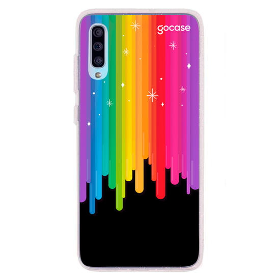 Capinha para celular Rainbow And Stars