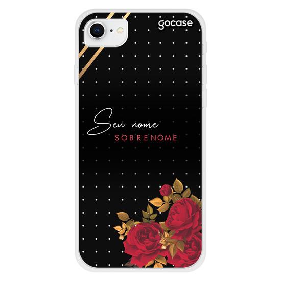Capinha para celular Red Rose Customizada