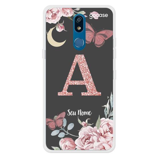 Capinha para celular Inicial Glitter - Rosas Nortunas