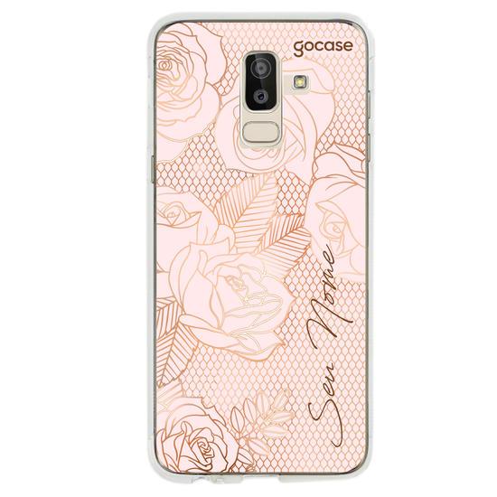 Capinha para celular Rosas Rendadas