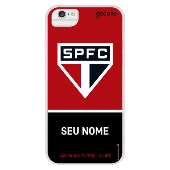 Capinha para celular São Paulo - Tricolor Horizontal Customizável